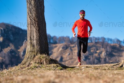 Young runner trains