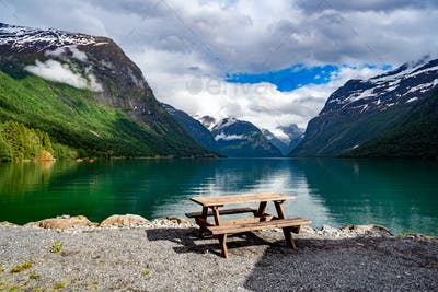 lovatnet lake Beautiful Nature Norway.