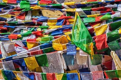 Buddhist prayer flags lungta