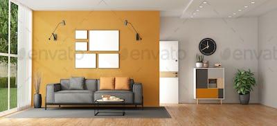 Living room of a modern villa