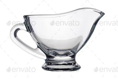 Single glass gravy boat