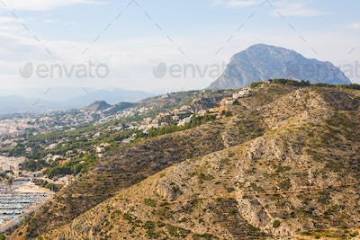 Javea Xabia village in Mediterranean sea of Alicante, Spain