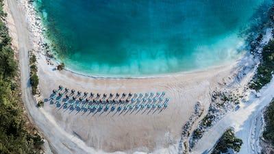 Porto Vathy beach, Thassos island, Greece