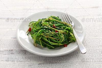 sauteed agretti, italian food