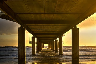 View from under the pier