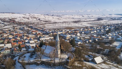 Altana fortified church in Transylvania, Romania