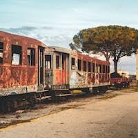 MANDURIA-ITALY/DECEMBER 2017: Abandoned train