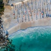 Marble beach (Saliara beach), Thassos Islands, Greece