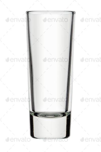 Single empty shot glass