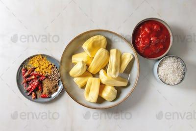 Ripe peeled jackfruit