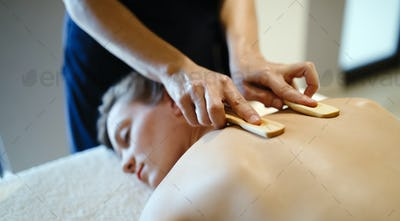 Wooden massage accessories for special treatment