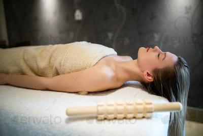 Relaxing anti stress facial massage