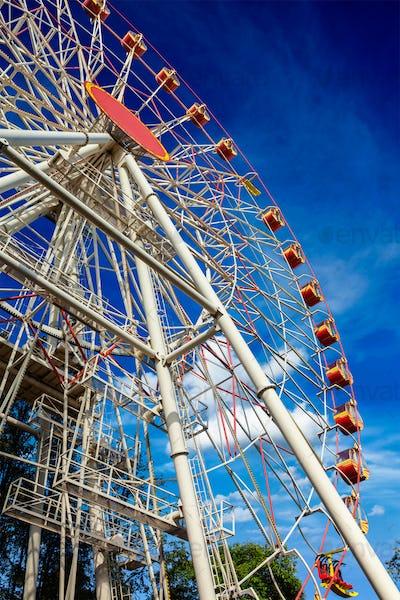 Ferris wheel in sky