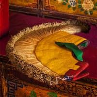 Yellow hat attribute of Tibetan Buddhism