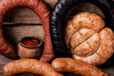 Smoked meats and sausages