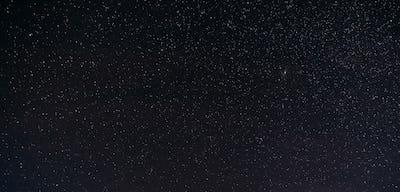Night Starry Sky With Glowing Stars. Night Starry Sky Dark Black
