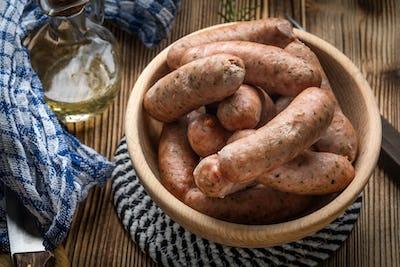 Boiled white sausage.
