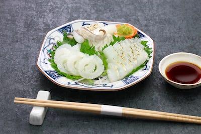 cuttlefish sashimi, japanese cuisine