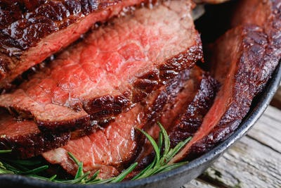 Close up of a beef steak