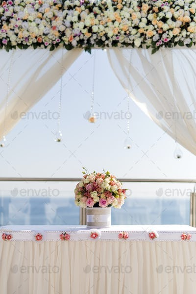 Beautiful luxurious altar decoration