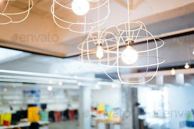 Hanging decorative light bulbs