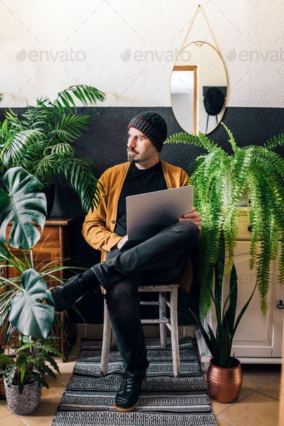 Male freelancer
