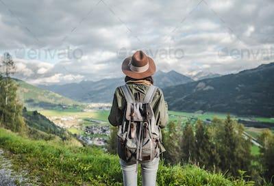 Young traveler in Austria