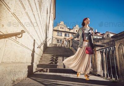 Beautiful girl in Prague