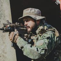 Airsoft military game