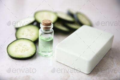 Cucumber Extract in Bottle with Soap