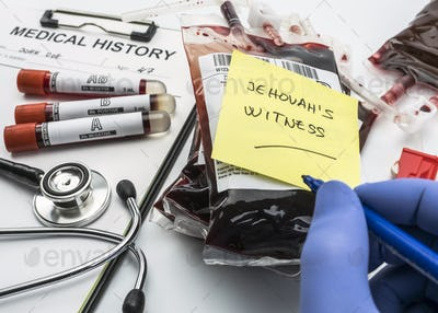 Doctor writes Jehovah's Witness note, concept of denial of blood transfusions