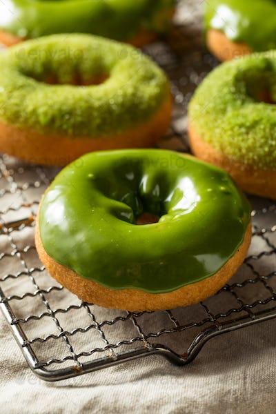 Homemade Green Tea Matcha Donuts