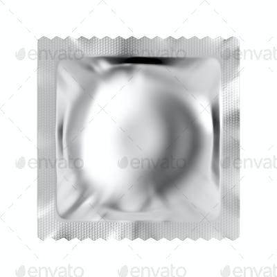 Blank condom packaging