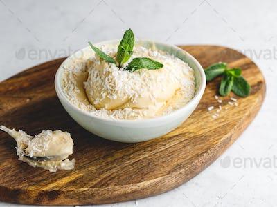 Homemade vegan ice cream