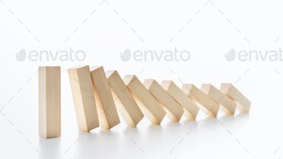 Domino effect stopped by one strong piece