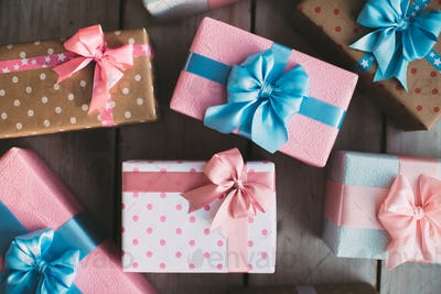 Many gift boxes.