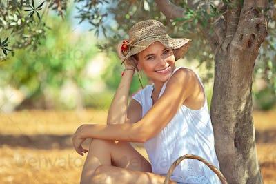 Happy gardener girl