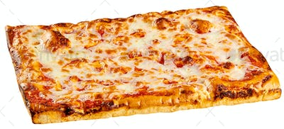Classic rectangular bakery Margherita pizza