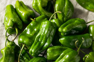 Raw Green Organic Spicy Gypsy Peppers