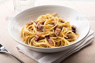 Spaghetti alla Carbanara from Lazio, Italy