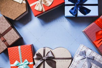 Gifts with copy space.