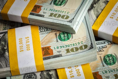 Background of new 100 US dollars 2013 banknotes