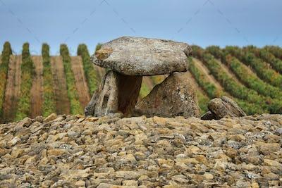 Dolmen named Shack of the Sorceress in Laguardia, Spain.