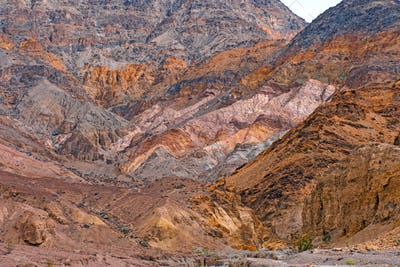 Colorful Rock Patterns in Death Valley