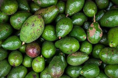 Full frame of fresh avocados