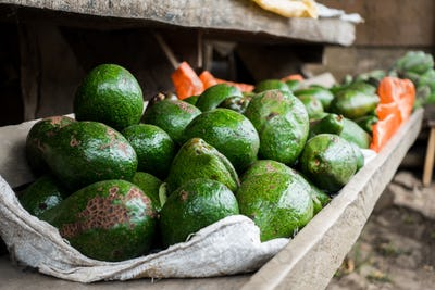 Fresh avocados at a market