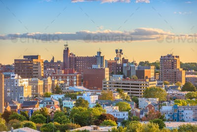 Portland, Maine, USA downtown skyline