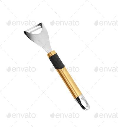 Potatoe knife isolated on white background