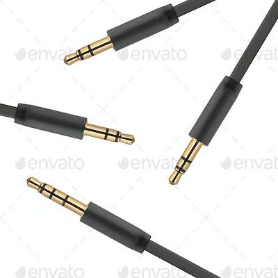 Audio Jacks isolated on white