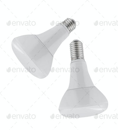 Light bulbs isolated on white